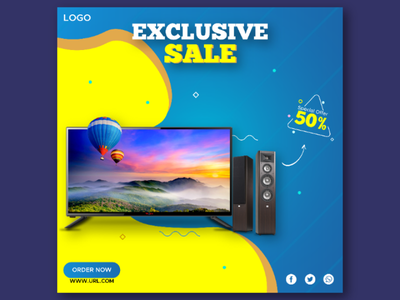 Social Media Post for TV Sale. design post design social media post
