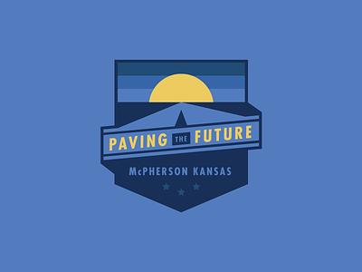 Paving The Future paving city midwest kansas future badge