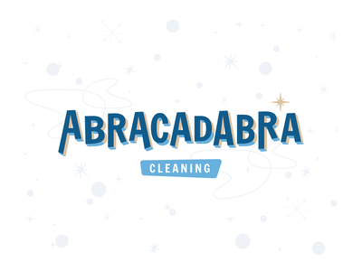 Abracadabra Cleaning typography modern midcentury cleaning retro 60s