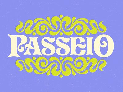 Passeio Nouveau texture 1970s nouveau ornamental groovy illustration type lettering