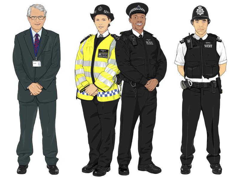 Police Volunteer / Special Constables / Police Sergeant sergeant special constables volunteer illustration police community metropolitan police