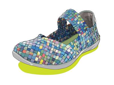 Bernie Mev Cuddly Slip-On illustration footwear cuddly slip-on women bernie-mev