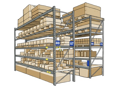 Belglobe Advanced Delivery: E-commerce inventory warehousing global freight belglobe advanced delivery e-commerce import stock logistics illustration