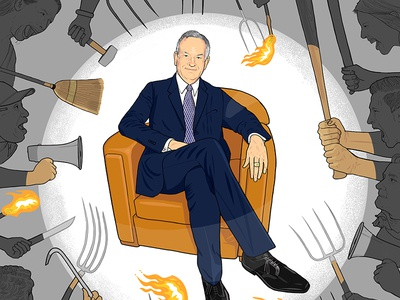 The Hollywood Reporter: Pitchforks Out for O'Reilly fox news the hollywood reporter illustration pitchforks angry mob scandal bill oreilly