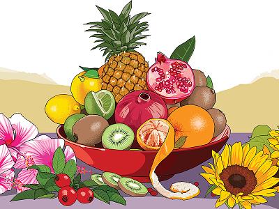 Ronneveldt: Fruit Tea label speciality drink fruit illustration labels packaging tea ronneveldt