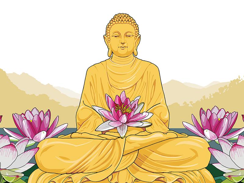 Ronneveldt: Wellness Tea label ronneveldt tea packaging labels illustration lotus buddha wellness drink speciality