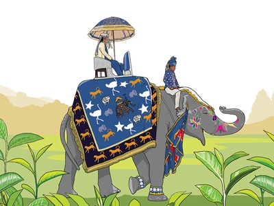 Ronnefeldt: Duke of Grey Tea label elephant ronneveldt tea packaging labels illustration duke of grey drink speciality