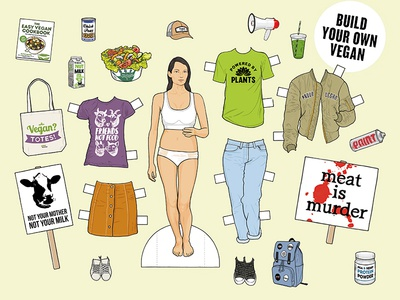 Women's Health: Is this what Vegan looks like? protest identity clothing style health women illustration vegan