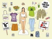Women's Health: Is this what Vegan looks like? protest identity clothing style health women illustration vegan