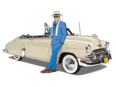 GQ: How to spot the Neo Dandy hat debonair natty vintage tailoring gq illustration cigar dandy
