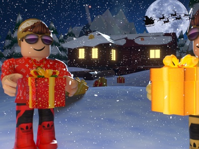 Roblox Christmas time typography ux ui design logo lowpolygon minecraft icon lowpoly3d lowpoly roblox app