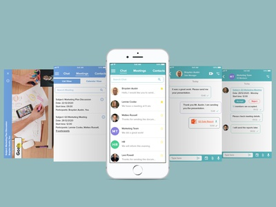 Direct Messaging dailyui018 work chat messaging app messenger conference chat app attachment group chat communication ios app flatdesign flat ui pro direct message direct messaging ux challange app ui design dailyuichallenge
