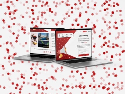 Giveaway Web Design description timer form red giveaway design ux luck giveaway website webpage dailyui097 challange ui design dailyuichallenge