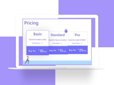 Pricing - Basic Plan purple 030 dailyui030 dailyui section flat pricing table pricing plan pricing page ux challange ui design dailyuichallenge