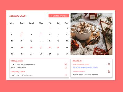 Calendar events whattodo schedule upcoming date picker datepicker 038 dailyui038 dailyui desktop ux ui dailyuichallenge design calendar app calendar ui calendar todoist todo task