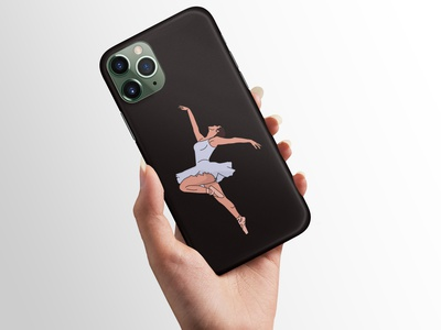 Phone Case Design For Iphone 11 Pro phone case mobile case adobe illustrator adobe photoshop adobe xd ballet design ballet case design product iphone 11 pro iphone protect cover