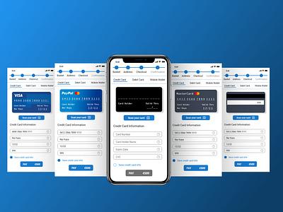 Checkout Page - App -UI dailyuichallenge credit card checkout credit card creditcards payment checkout process checkout form checkout page ios adobe xd dailyui ux app ui design