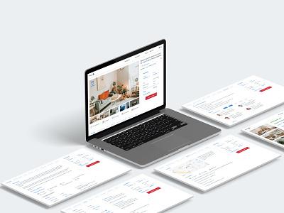 House Renting - Website room booking e-commerce adobe photoshop prototype ios adobe xd ux ui dailyuichallenge design website design website