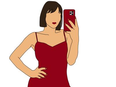 Red Dress Woman Illustration fun adobe xd illustration red red dress woman