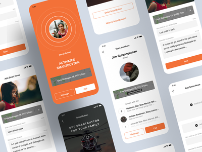 SmartHelp ios mobile ui product design ux web app design
