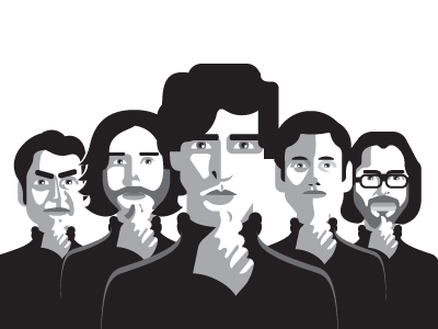 Silicon Valley group people startup stevejobs dudes portrait siliconvalley