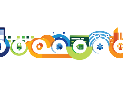 Capabilities banner settings ecosystem security applications collaboration data web icons