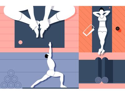 Soulmat yoga yogi sports athletic fitness health people mat