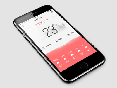 Weather App dashboard temprature season weather