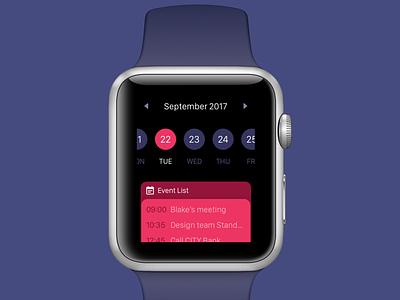 Calendar UI for Apple Watch apple smartwatch applewatch
