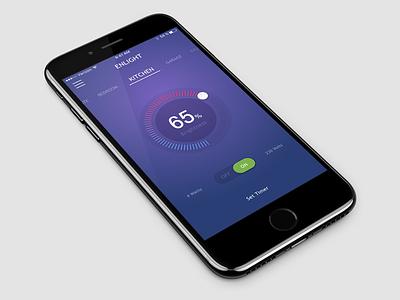 Home Screen Concept lightcontrol dashboard
