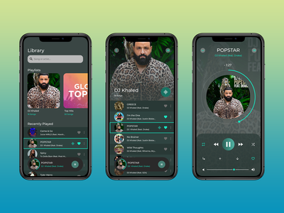 Music Player Concept ui ui design mobile app design music player ui