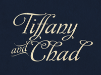 Typography exploration for Wedding