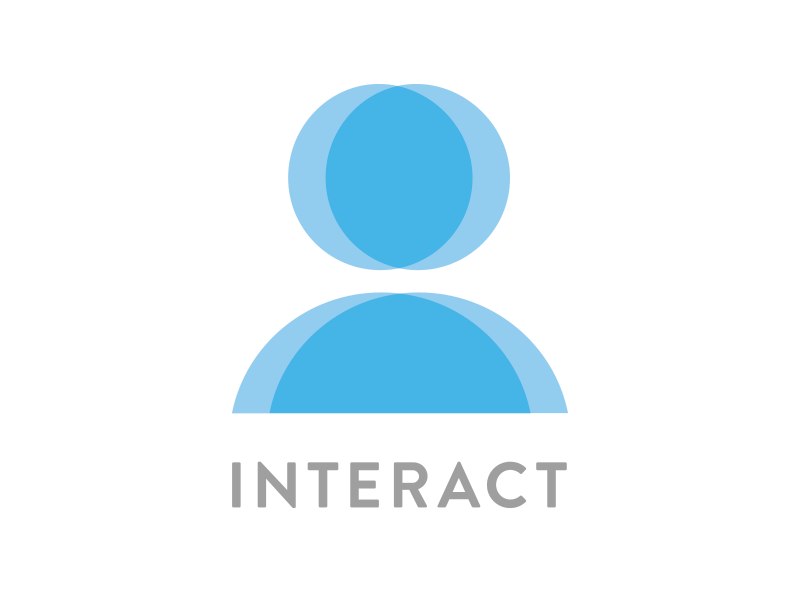 Interact SF user experience community logo interact brand identity