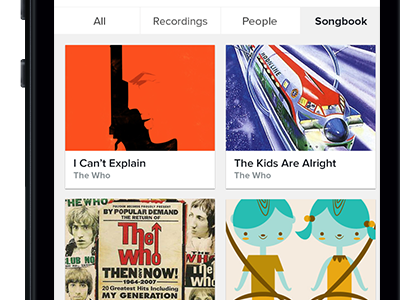 Song sorting results search sorting grid songs