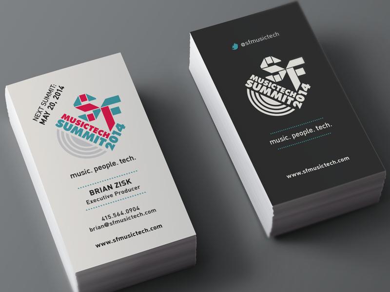 SF Music Tech Business Cards business cards marketing design