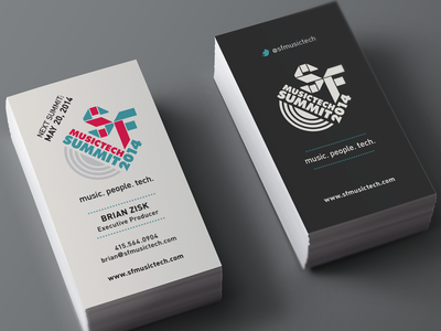 SF Music Tech Business Cards business cards marketing design