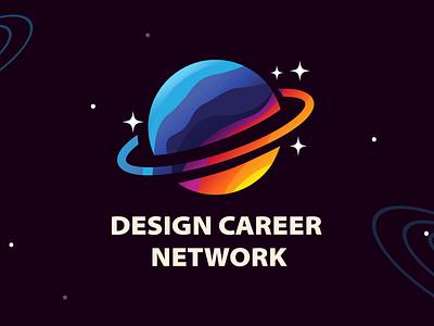 Design Career Network logo user experience designer brand identity iconography brand retro illustration icon design branding logo