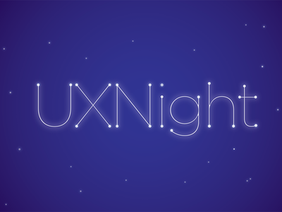 UXNight logo concept logo uxnight typography