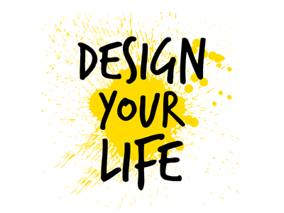 Design Your Life Conference branding logo paint conference
