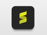 Music app icon rebound (flat)