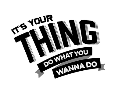 Do what you wanna do typography song lyrics boredom