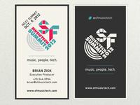 SF MusicTech Summit Business Card