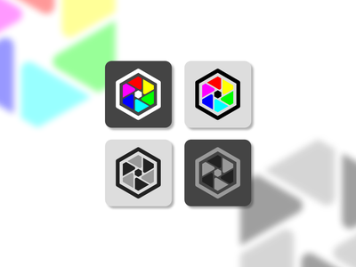 Daily UI #005 • App Icon icon app icon android ios cmyk rgb color diaphragm photography vector logo app minimal flat design