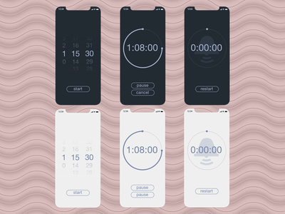 Daily UI #014 • Countdown Timer daily ui dailyui cake running work task ios iphone app countdown timer countdown timer lightblue pink white gray minimal flat ui design