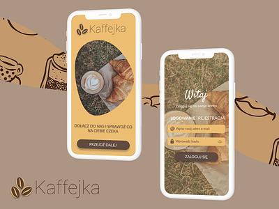 Kaffejka - mobile cafe app ui graphic design dribbbleshot design loginpage dribbble