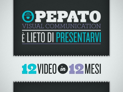 12video12mesi | Pepato microsite header title