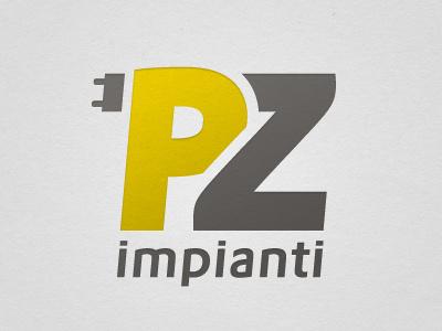Pz Impianti | Redesign Logo logo yellow power monogram