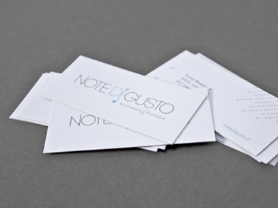 Note di gusto | business card print restaurant pepato business card