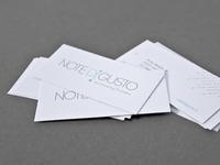 Note di gusto | business card