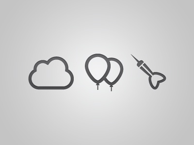 The Tocsins | Icons icons cloud balloons dart